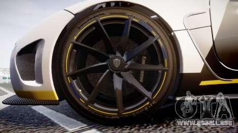 Koenigsegg Agera 2013 Police [EPM] v1.1 PJ1 para GTA 4 vista hacia atrás