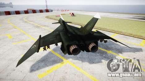 MiG-31 Fire Fox MEC PJ para GTA 4 Vista posterior izquierda