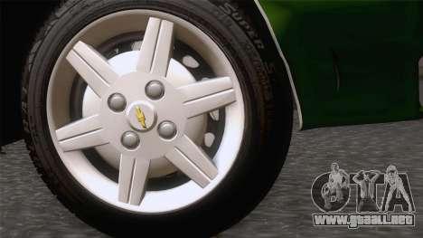 Chevrolet Corsa Classic 2009 para GTA San Andreas vista posterior izquierda