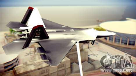 F-22 Raptor Razgriz para GTA San Andreas left