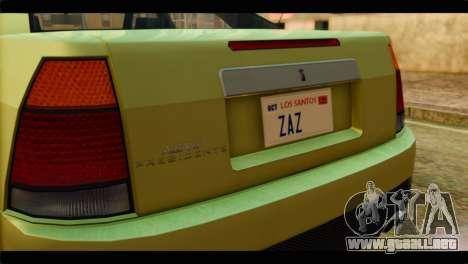 GTA 4 Presidente para GTA San Andreas vista hacia atrás