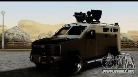 Camion Blindado para GTA San Andreas