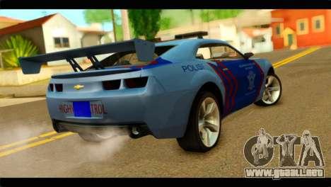 Chevrolet Camaro Indonesia Police para GTA San Andreas left