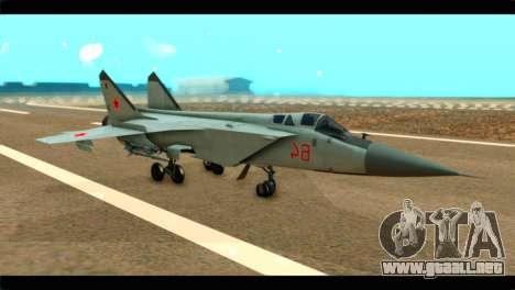 MIG-31 Soviet para GTA San Andreas