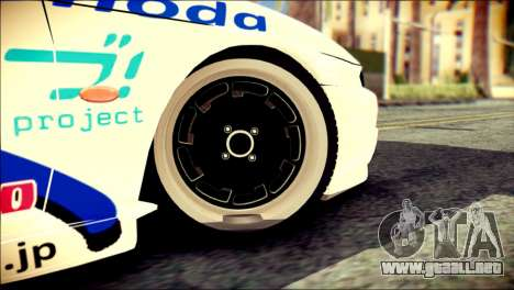 Nissan Silvia S14 Umi Sonoda Paintjob Itasha para GTA San Andreas vista posterior izquierda