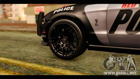 NFS Rivals Ford Shelby GT500 Police para GTA San Andreas vista posterior izquierda
