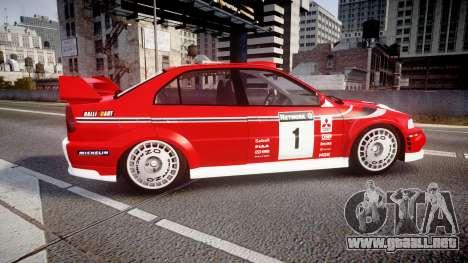 Mitsubishi Lancer Evolution VI 2000 Rally para GTA 4 left