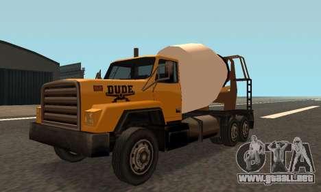 Cement Truck Fixed para GTA San Andreas left