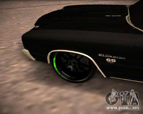 Chevrolet El Camino SS Green Hornet para la visión correcta GTA San Andreas