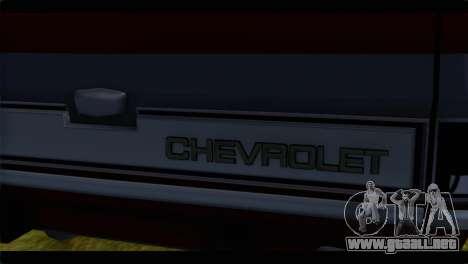Chevrolet C10 Low para GTA San Andreas vista hacia atrás