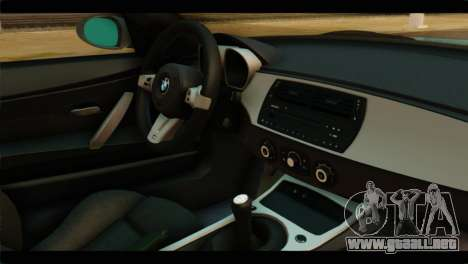 BMW Z4M Coupe para la visión correcta GTA San Andreas