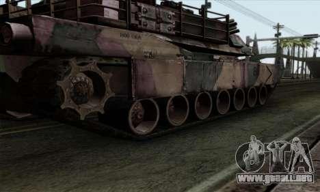 M1A2 Abrams Autumn Camo para GTA San Andreas vista hacia atrás
