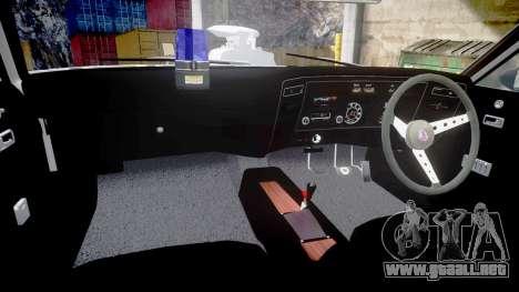 Ford Falcon XB GT351 Coupe 1973 Mad Max para GTA 4 vista interior