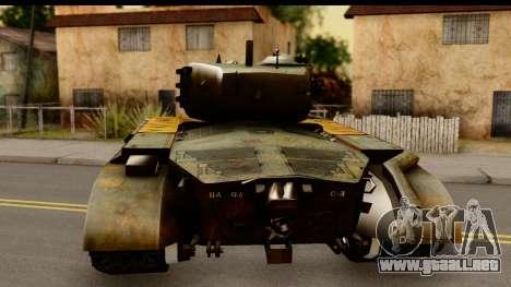 M26 Pershing Tiger para GTA San Andreas vista posterior izquierda