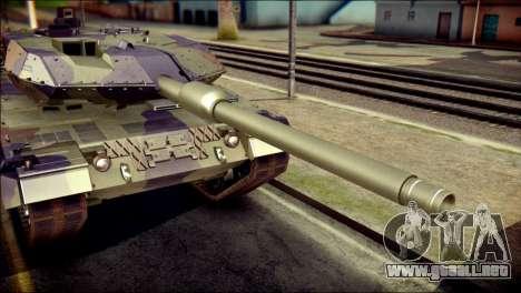 Leopard 2A6 PJ para GTA San Andreas vista hacia atrás