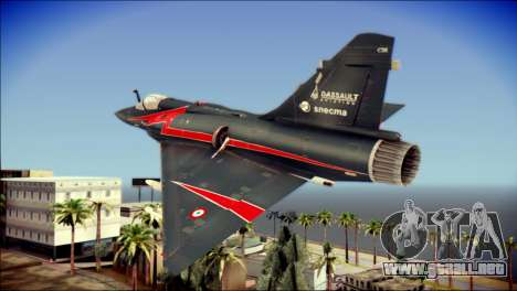 Dassault Mirage 2000-10 Black para GTA San Andreas left
