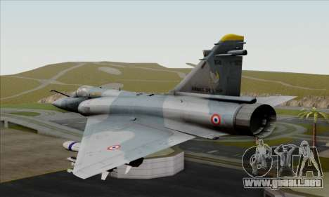 Dassault Mirage 2000-5 ACAH para GTA San Andreas left