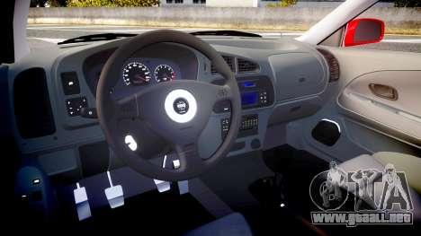 Mitsubishi Lancer Evolution VI 2000 Rally para GTA 4 vista hacia atrás
