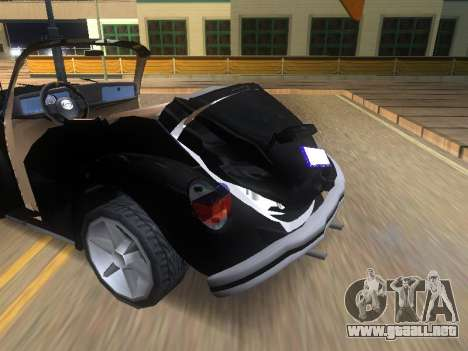 Volkswagen Beetle 1984 para vista inferior GTA San Andreas