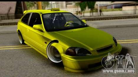Honda Civic 1.4 Taxi para GTA San Andreas