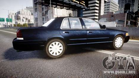 Ford Crown Victoria NYPD Unmarked [ELS] para GTA 4 left