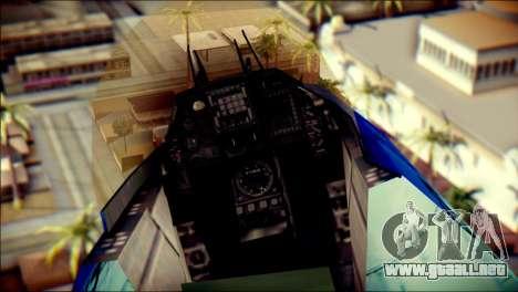 Mitsubishi F-2A JASDF v3.0 para GTA San Andreas vista hacia atrás