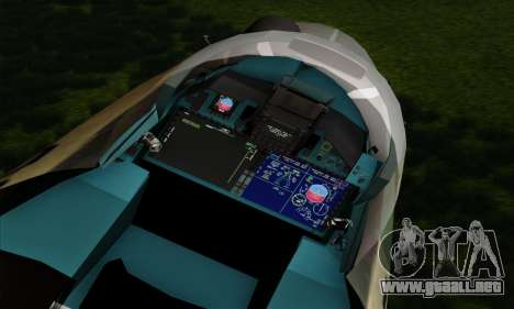 SU-35 Flanker-E ACAH para GTA San Andreas vista hacia atrás