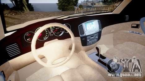 Toyota Land Cruiser 100 UEP [ELS] para GTA 4 vista hacia atrás