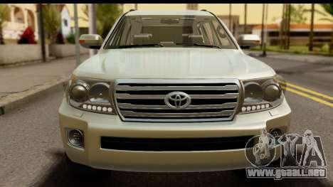 Toyota Land Cruiser 200 2013 para GTA San Andreas vista posterior izquierda