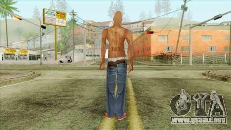 Tupac Shakur Skin v3 para GTA San Andreas segunda pantalla