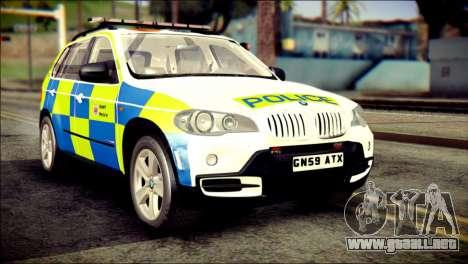 BMW X5 Kent Police RPU para GTA San Andreas
