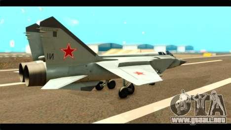 MIG-31 Soviet para GTA San Andreas left