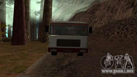 Roman Bus Edition para GTA San Andreas vista posterior izquierda