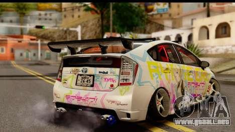 Toyota Prius Hybrid Eri Ayase Love Live Itasha para GTA San Andreas left