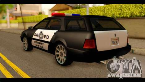 Stratum Police Highway v1.0 para GTA San Andreas left