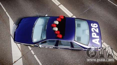 Chevrolet Caprice 1994 LCPD Auxiliary [ELS] para GTA 4 visión correcta