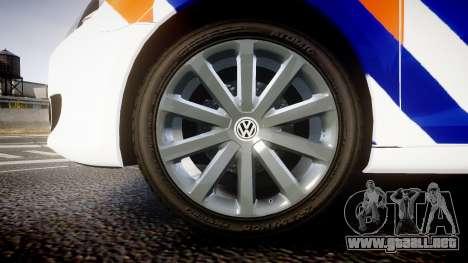 Volkswagen Golf Mk6 Dutch Police [ELS] para GTA 4 vista hacia atrás