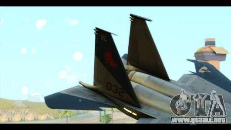 F-15C Eagle para GTA San Andreas vista posterior izquierda