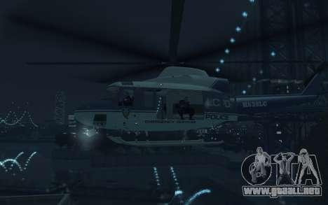 GTA III Police Valkyrie HD para GTA 4 vista hacia atrás