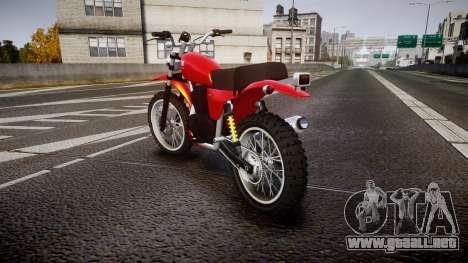 GTA V Dinka Enduro para GTA 4 Vista posterior izquierda