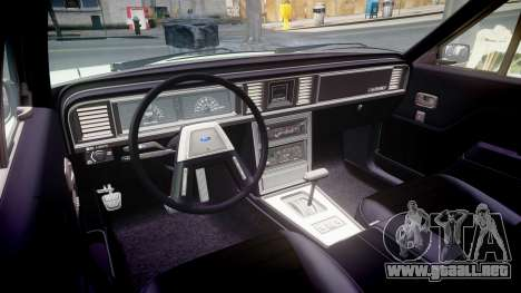 Ford LTD LX 1985 v1.6 para GTA 4 vista interior