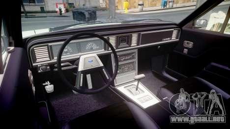 Ford LTD LX 1985 v1.6 para GTA 4 vista interior