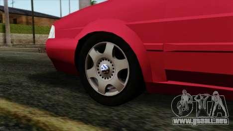 Volkswagen Santana para GTA San Andreas vista posterior izquierda