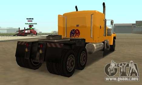 PS2 Tanker para GTA San Andreas vista posterior izquierda