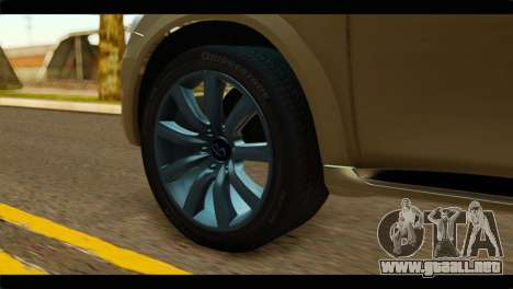 Infiniti QX56 para GTA San Andreas vista posterior izquierda