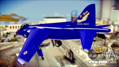 GR-9 Royal Navy Air Force para GTA San Andreas left