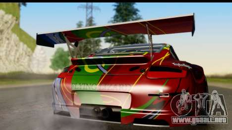 Porsche 911 GT3 RSR 2007 Flying Lizard para la visión correcta GTA San Andreas