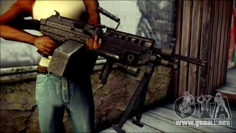 Gold M60 with Custom GTA 5 Icon para GTA San Andreas tercera pantalla