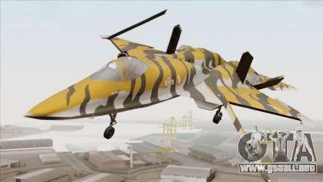 YF-23 Black Widow II Tigermeet para la visión correcta GTA San Andreas