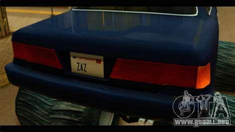Monster Merit para GTA San Andreas vista posterior izquierda